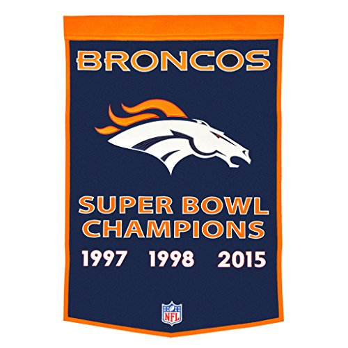 Championship Billiard Fabric (Denver Broncos Dynasty Banner)
