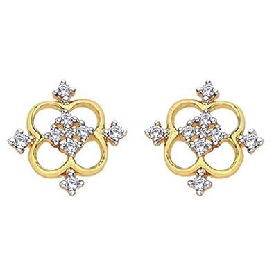 105bd68d8eaf2 Buy D'damas 18k Yellow Gold Diamond Stud Earrings Online at Low ...