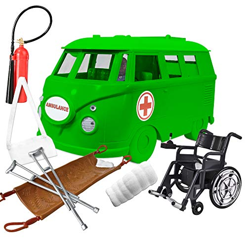 Deluxe Ambulance Playset for WWE Wrestling Action Figures: Green