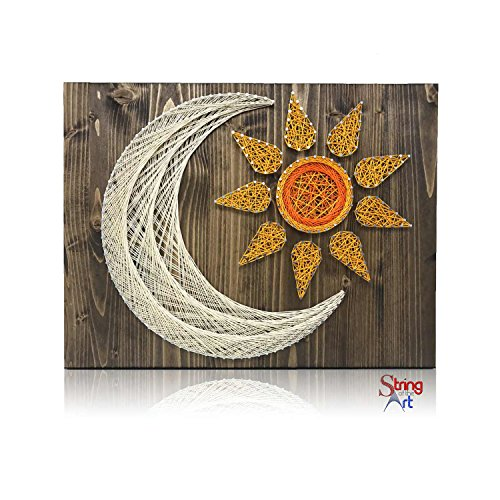 DIY String Art Kit - Sun and Moon String Art Kit, Sun and Moon Decor, Craft Kit for Adults, Adults Arts and Crafts, Craft Project Kits, Sun and Moon Decor, All Supplies Included by String of the Art