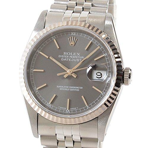[ロレックス]ROLEX 腕時計 オイスターパーペチュアルデイトジャスト 16234 X番台(1991年頃) 中古[1300766] X番台(1991年頃) グレー B07DPCM3MK