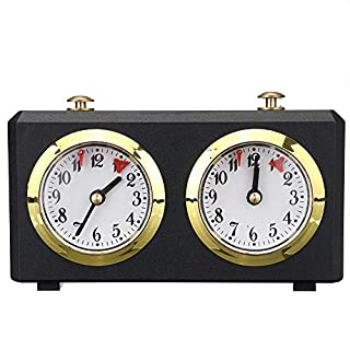 BEYST Chess Clock Game Timer Portable & Professional Mechanical Analog Chess Clock for Chinese Chess, International Chess & I-GO