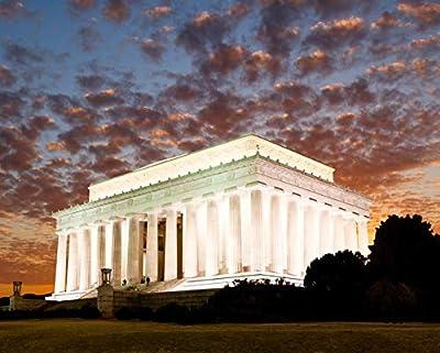 Lantern Press Washington DC - Lincoln Memorial at Dusk - Photography A-93443