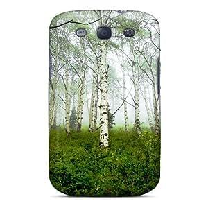 Fashion OCwBM3645RCGEU Case Cover For Galaxy S3(birch Forest In The Mist)