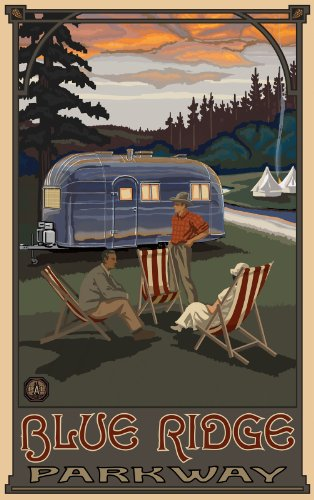 Northwest Art Mall Blue Ridge Parkway Airstream Campers North Carolina Wall Art by Paul A Lanquist, 11 by -