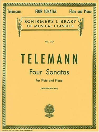 Four Sonatas For Flute and Piano, Vol. (Telemann Flute)