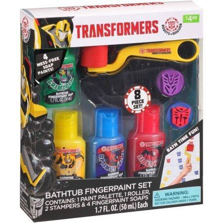 Transformers Bathtub Fingerpaint Set