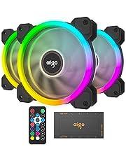 3 في 1 120 مم حالة المشجعين RGB LED لون هادئ تدفق الهواء العالي استخدام طويل الحياة حافظة الكمبيوتر الكمبيوتر الكمبيوتر مروحة تبريد الكمبيوتر لحالة الكمبيوتر المبرد وحدة المعالجة المركزية المبرد