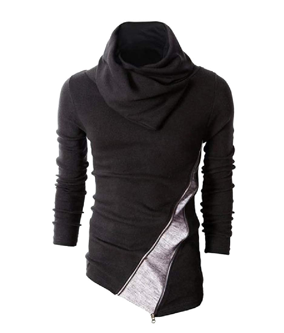 Zimaes-Men Fall Winter Regular Plus Size Stitch Pullover Top Blouse