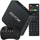 Easytone Android 4.4 Smart TV Box Free Movie with Remote Control Kodi Xbmc Preinstalled Add-ons 4X CPU S805 Quad Core Netflix Streaming Media Player with 2.4Ghz WiFi HDMI DLNA+I8 Wireless Keyboard