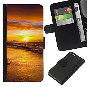 All Phone Most Case / Oferta Especial Cáscara Funda de cuero Monedero Cubierta de proteccion Caso / Wallet Case for Apple Iphone 5C // Sunset Sea Beautiful Nature 18