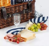 Picnic Basket for 4 | Handmade Picnic Hamper Set