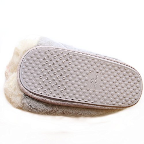 Fuzzy Shoe Slippers Cozy Fun Warm Hamburger House Slippers Bunny Gray Animal Women Cute wfWpPq