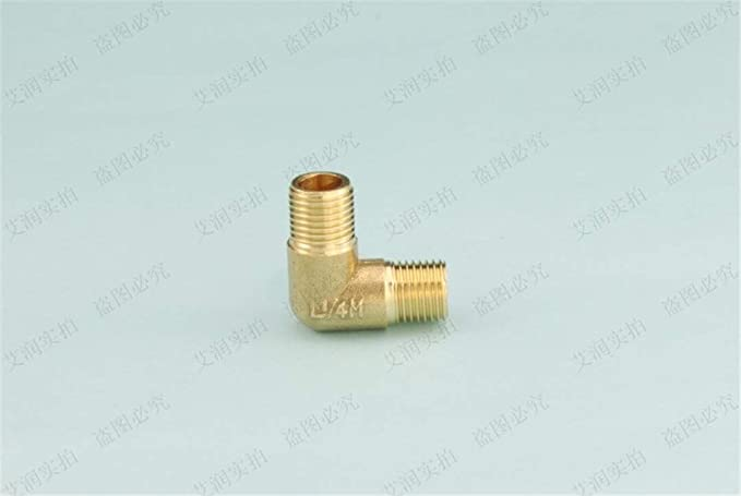 10pcs Brass Tube Fitting Adapter 90 Degree 1//8 1//4 3//8 1//2 3//4BSP Pipe Water Thread Specification : 14 Oil And Gas Elbow Fitting Coupler Tubing Pipe