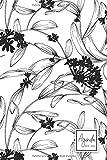 Agenda 2019-2020: Agenda Scolaire de Juillet 2019 à Juillet 2020, Semainier simple & graphique, motif floral noir et blanc