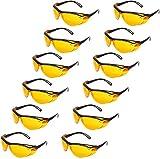 AmazonBasics Blue Light Blocking Safety Glasses, Anti-Fog, Orange Lens, 12-Count