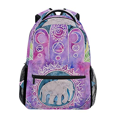 Creative Hand Print Elephant Cool Backpack Bookbag Rucksack School Travel Bag -