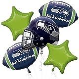 Anagram Bouquet Seahawks Foil Balloons, Multicolor