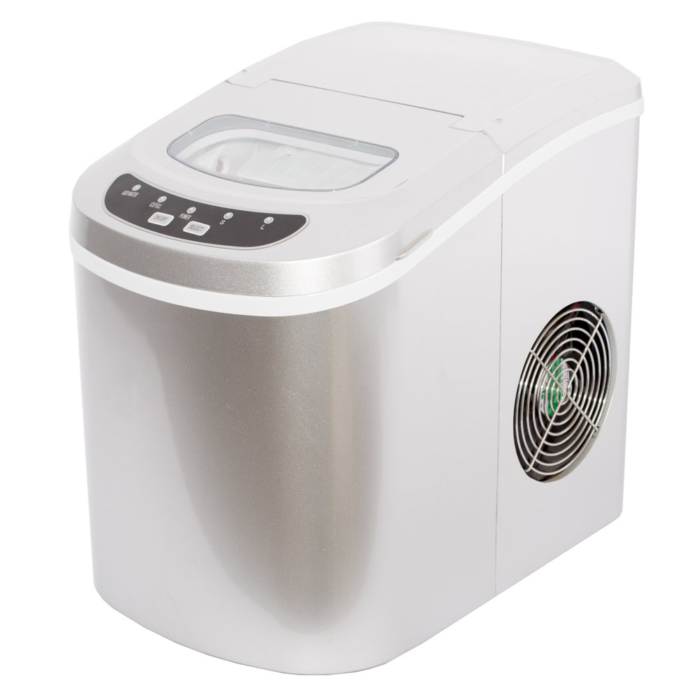 Smad Portable Electric Ice Maker Machine Ice Makers Countertop-Touch Buttons Digital 2 Selectable Cube Sizes HZB-12A-3
