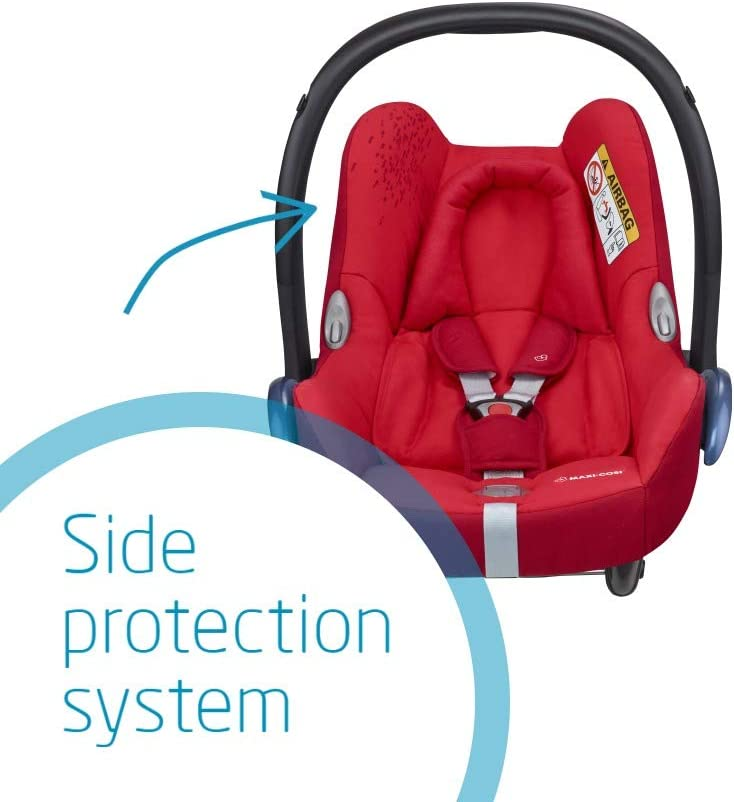 0-12 m 0-13 kg 0-13 kg Maxi-Cosi CabrioFix Baby Car Seat Group 0+ Sparkling Blue with Easyfix Car Seat Base ISOFIX ISOFIX or Belted Installation for CabrioFix 0-12 Months
