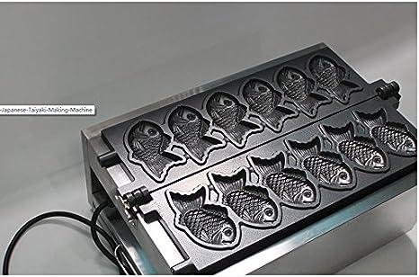 MXBAOHENG Eléctrico peces tipo Waffle máquina japonés Taiyaki ...