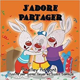 Book J'adore Partager: I Love to Share (French Edition)
