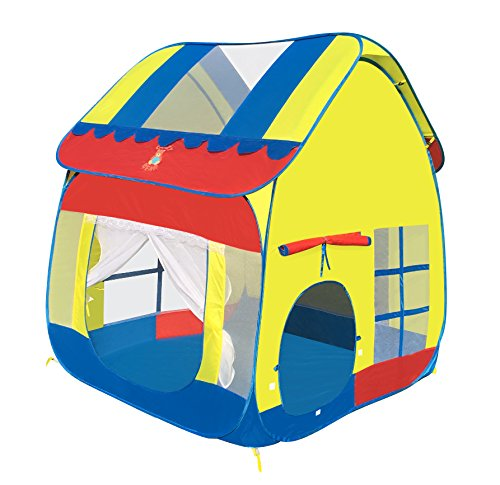 Kids play tent portable fun pop up large playhouse by cozy for Cheap playhouse kits