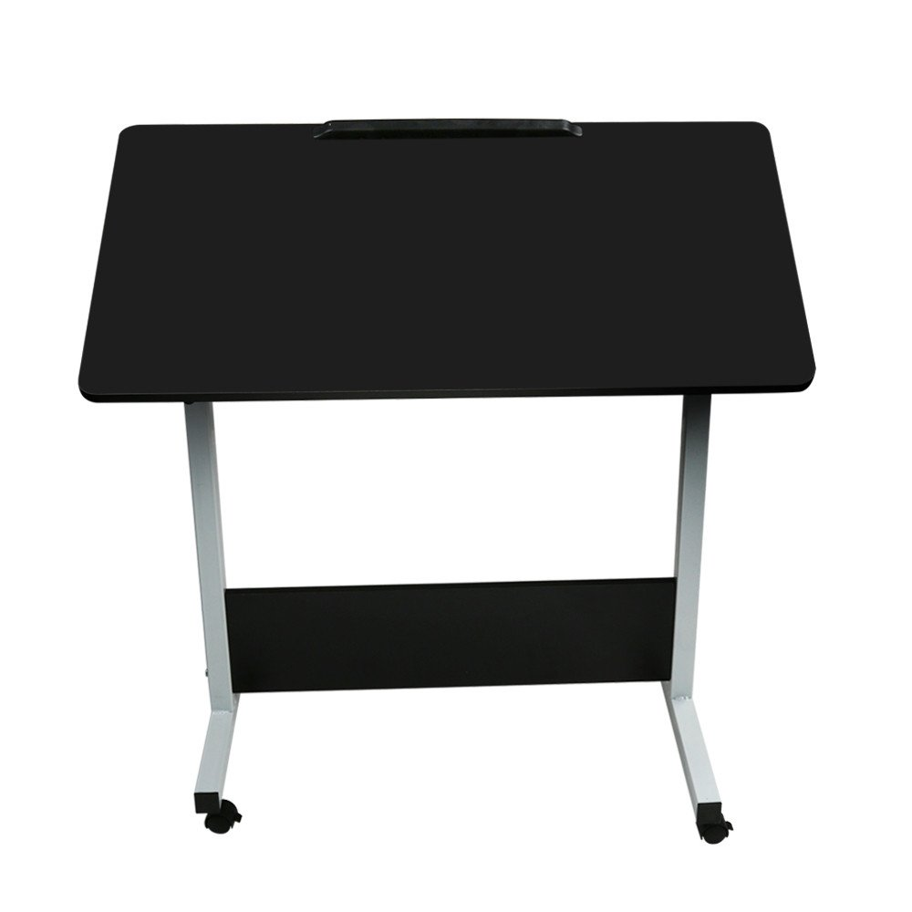 Vovotrade Laptop Desk Household Can Be Lifted and Folded Folding Computer Desk (Black, 80X40CM)