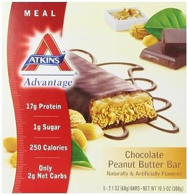 Atkins Advantage Bar,choc Pntbtr, 5/1.6 Oz