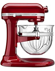 KitchenAid KSM6521XCA Professional 6500 Design Series Candy Apple Red Bowl-Lift Stand Mixer with 6