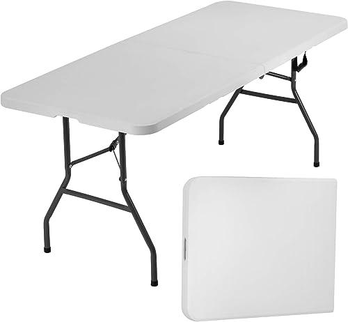 BestOffice Folding Table Camping Table Folding Table 6 Foot Plastic Table Fold Up Table Lock
