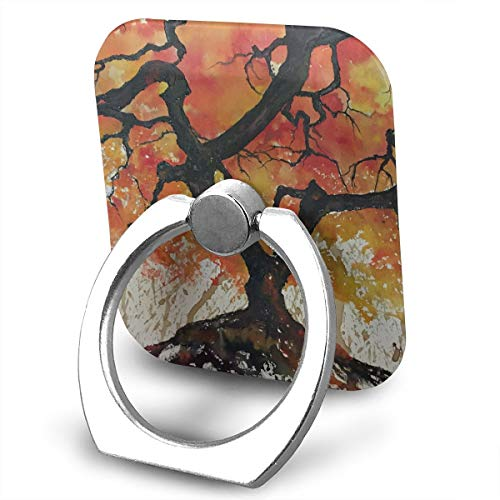 (Happy Index Orange Tree 360° Rotation Cell Phone Ring Holder Cellphone Finger Stand for iPhone, IPad, Samsung Galaxy S9/S8 and More Smartphones)
