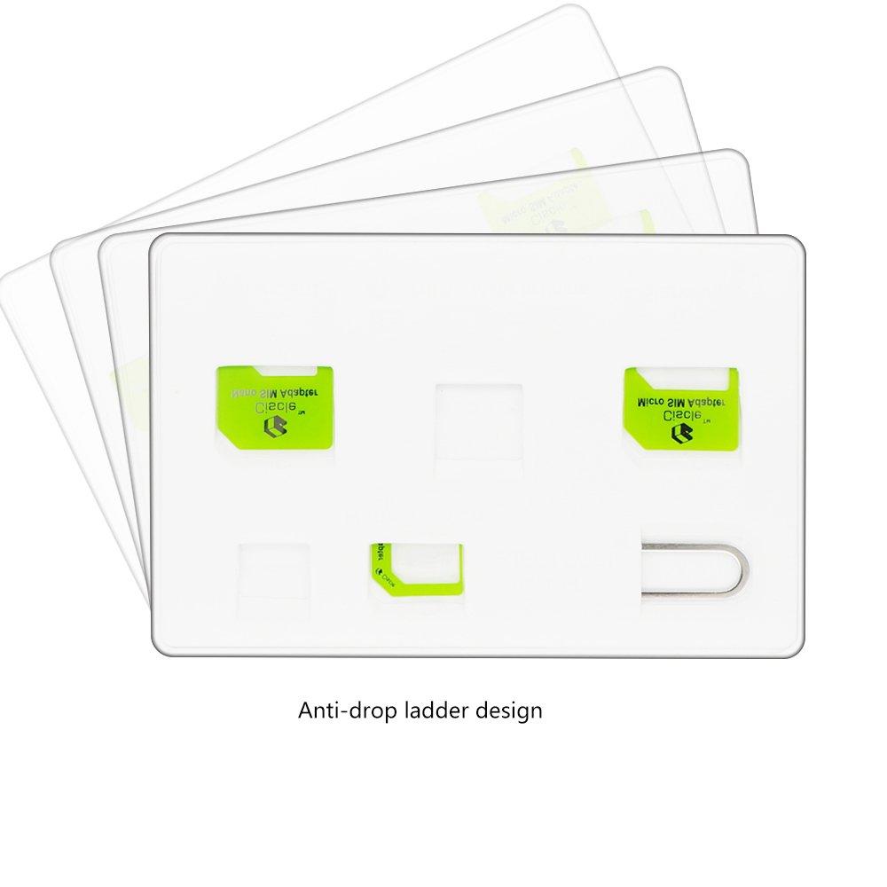 5ec4052e8bb SIM003-03 Oro Ciscle Adaptador Para Tarjeta Nano SIM Tarjeta Micro SIM  Tarjeta SIM Adaptador Blanco 5 En 1 ...