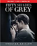 Fifty Shades of Grey - Unrated Edition (Blu-ray + DVD + Digital ... Cover Art