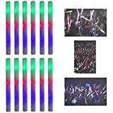"Toys : 16"" Multicolor LED Flashing Light Effect Sticks Color Changing Foam Baton Strobe for Party Supplies, Festivals, Raves, Birthdays, Children Toy (12 Pack)"