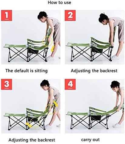 Chaise Longues Lit pliant Utilisation de la chaise pliante pour la chaise de pont de pêche Nap Portée 112 kg Six points de soutien ferme solide