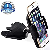 Bestrix Universal CD Phone Mount Cell Phone Holder for Car fits iPhone X, 8, 7, 6, 6S Plus. 5S, 5C, 5, Samsung Galaxy S5, S6, S7, S8, Edge/Plus Note 4,5,8, LG G4, G5, G6, All Smartphones up to 6""