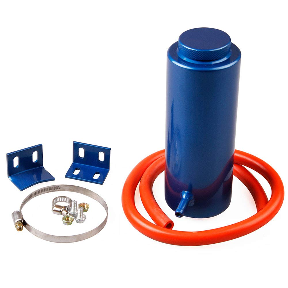 HERCHR Car Modification, Accessories Car Universal Water Tank 800Ml Aluminum Alloy Cooling Pot Auxiliary Water Tank (blue)