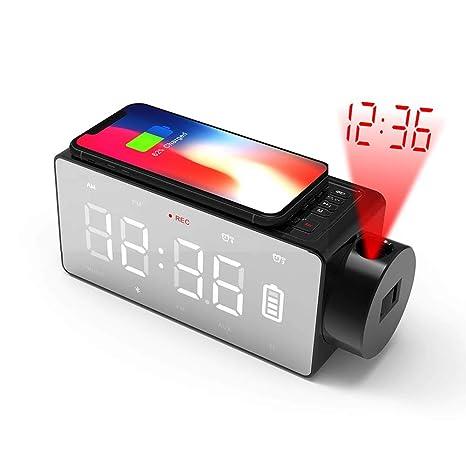 Amazon.com: Reloj de alarma inalámbrico con cargador rápido ...