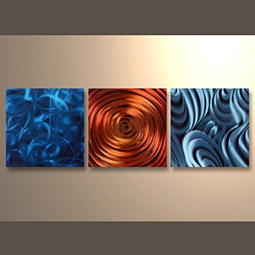 【現代アート工房】 メタルアート 現代絵画 立体感のあるモダンアート ハンドメイド作品 抽象画ライン 2FMA-430 60×60cm-3 B01NATSLI2 抽象画430 抽象画430