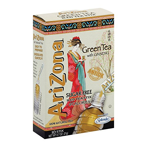 Arizona Sugar-Free Green Iced Tea Stix, 0.7 Ounce (Pack of 12)