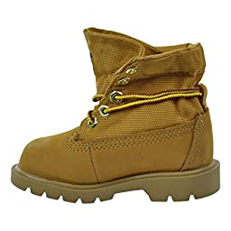 Timberland Roll-Top Single Shot Boot with Closure (Toddler/Little Kid/Big Kid), Wheat Nubuck, 5 M US Toddler