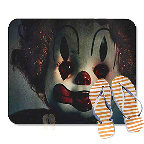 Bathroom Rugs for Bath Mat Scary Evil Clown Toy Doll That Could Be Possessed Halloween Fear, Non Slip Bath Rug Velvet Foam Bathroom mat for Shower Floors 15.7X23.6Inch 2F301 ()