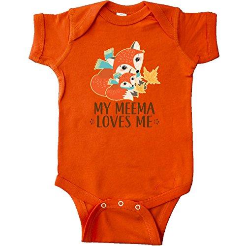 Fox Infant Creeper (inktastic Meema Loves Me Gift Fox Infant Creeper Newborn Orange 2dbf1)