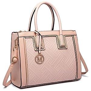 Miss Lulu Women Designer A4 Size Large Shoulder Handbags Ladies Faux Leather Shoulder Tote Bags