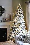 KING OF CHRISTMAS 6 Foot Prince Flock Artificial Christmas Tree Unlit, Flocked