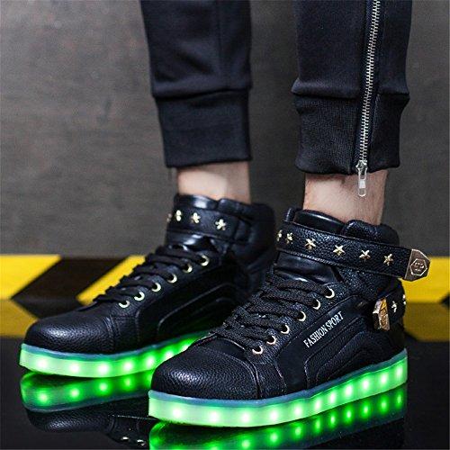 San Scarpe Ringraziamento Shoes Led Del Giorno Sneakers Light Pu Casual B Autunno Up Natale amp; Primavera Valentino Per Lovers Party Evening YFCxgwTqT