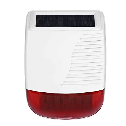 Siren Alarm 110db, 433MHz Wireless Outdoor Waterproof Solar ...