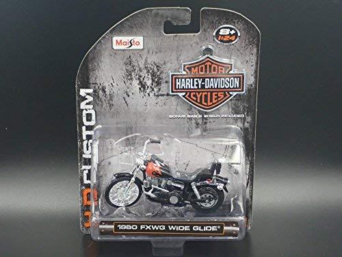 1980 FXWG WIDE GLIDE HARLEY DAVIDSON MOTORCYCLE H-D MAISTO 1:24 DIECAST -