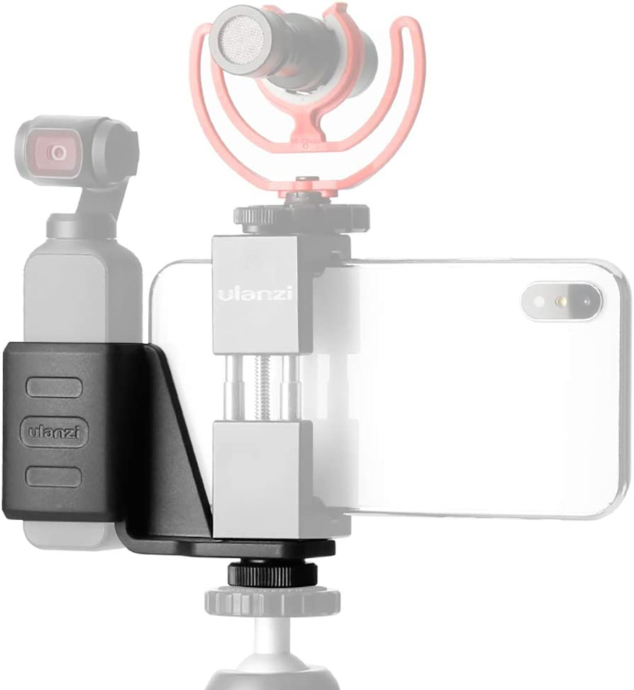 ULANZI OP-1 Mount Zubeh/ör f/ür Osmo Pocket mit 1//4 Gewinde f/ür iPhone Stativhalter